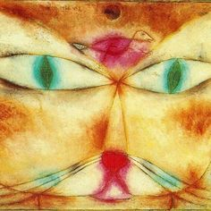 "Paul #Klee, Cat & Bird (1928) ""One eye sees, the other feels."" www.bauhaus-movement.com/designer/paul-klee.html"