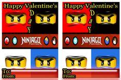 lego ninjago valentines cards