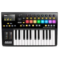 Akai ADVANCE 25 | 25-Key Virtual Instrument Production Controller with Full-Color LCD Screen