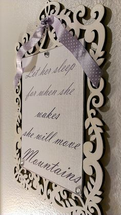 Wood Signs Nursery Decor Girls Nursery Decor by SilverHopeDesigns