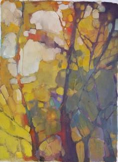 Por amor al arte: Olivia Pendergast Abstract Tree Painting, Painting & Drawing, Abstract Art, Watercolor Paintings, Landscape Art, Landscape Paintings, Paintings I Love, Claude Monet, Pablo Picasso