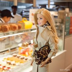 At the famous @dominiqueansel bakery seeing how a #Cronut gets made! Now if I could only get one for everyone on my list… #barbie #barbiestyle