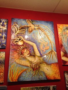 Death tarot card huge painting by Tara Nefertara Ozella