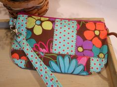 QUILTED Patchwork Wristlet/CarryAll  with by ItsSewDarnCute, $14.00