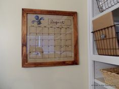 DIY Dry Erase Calendar Board - I made a dry erase calendar board from an old picture frame and burlap.  Instead of buying dry erase markers, I just use a Sharpi…