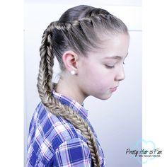 Pretty Hair is Fun: Fishtail Braid (Box Braid) Zipper Braid, Five Strand Braids, Infinity Braid, Braid Tutorials, Pretty Braids, Flower Braids, French Braid, Fishtail