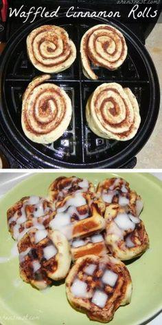 Waffled Cinnamon Rolls