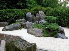 Modern Gardening Japanese Inspired Gardens is a German company that artistically creates these amazing Japanese modern masterpieces. - Japanese Inspired Gardens is a German company that artistically creates these amazing Japanese modern masterpieces. Japanese Rock Garden, Zen Rock Garden, Zen Garden Design, Japanese Garden Design, Japanese Landscape, Garden Stones, Landscape Design, Japanese Modern, Japanese Gardens
