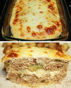 Philly Cheesesteak Meatloaf with green bell peppers, onions and mushrooms topped and stuffed with Provolone Cheese. Philly Cheesesteak Meatloaf is officially our new favorite meatloaf in our house. We've been on an everything Philly Cheesesteak kick Meatloaf Recipe With Cheese, Cheese Stuffed Meatloaf, Meatloaf Recipes, Taco Meatloaf, Cheeseburger Meatloaf, Homemade Meatloaf, Healthy Meatloaf, Stuffed Bread, Healthy Recipes