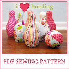 Download I heart Bowling sewing pattern Sewing Pattern | Featured Products | YouCanMakeThis.com