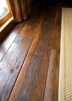 laminate flooring wide plank distressed - Reclaimed Antique Hardwood click the image or link for more info. Wide Plank Flooring, Basement Flooring, Diy Flooring, Wooden Flooring, Kitchen Flooring, Flooring Ideas, Flooring Options, Bedroom Flooring, Maple Flooring
