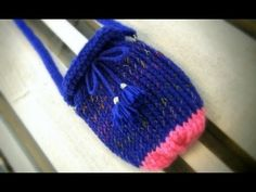 Loom Knit Purse - Easy to follow step by step video tutorial.