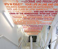 the new school's 3D signage by integral ruedi baur