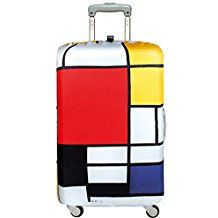 Viacfarebný poťah na kufor Loqi Piet Mondrian Composition Piet Mondrian, Graphic Score, State Holidays, Going Off The Grid, Luggage Case, Old Suitcases, Beyond The Rack, Cover Model, Museum Collection
