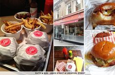National Burger Day: 9 Best Restaurants   sheerluxe.com Patty And Bun, National Burger Day, Liverpool Street, Hamburger, Restaurants, Ethnic Recipes, Places, Food, Lugares