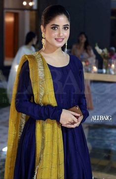 From short frocks to shalwar kameez, Sajal Ali dresses can give you an idea how to look trendy and adorable in every season. Pakistani Fashion Party Wear, Indian Fashion Dresses, Dress Indian Style, Pakistani Outfits, Indian Outfits, Salwar Designs, Kurta Designs Women, Kurti Designs Party Wear, Stylish Dresses For Girls