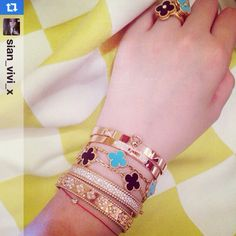 cartier love, hermes and van cleef arpels and so on...art of fashionable stacking