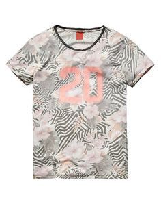 All-over printed crew neck tee - dessin I - XL