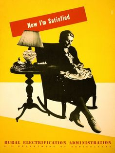 Lester Beall - Now I'm Satisfied, Rural Electrification Administration
