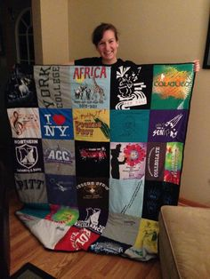Good morning everyone!  As many of you know from my posts on Facebook, I finished my t-shirt quilt!  It took a lot of time and patience, but it was so worth it!  Several of you have been asking how...