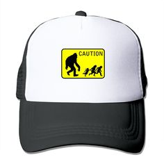 """Adult Caution The Adjustable Snapback Baseball Cap. 100% Nylon Mesh Back Keeps You Cool. 100% Polyester Foam Front. Hand Washing Only. Adjustable From 17"""" To 24"""". Customized Pattern Design,Perfect As A Gift,High Quality And Environmentally Friendly Printed."""