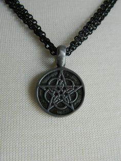 CELTIC PENTAGRAM - necklace by Crow Haven Road. $20.00, via Etsy.