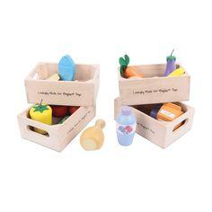 Bigjigs Toys Lot de produits laitiers alimentation saine: Amazon.fr: Jeux et Jouets