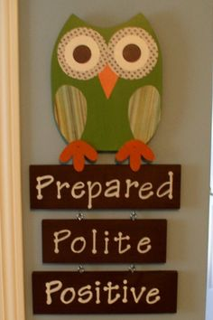 Perfect for my classroom! Instead of an owl, have a bee...