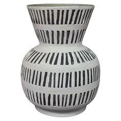 Ceramic Vase with Lines - White - Threshold™ : Target