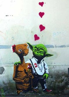 Yoda is same sex, but different species attracted. Or maybe neither of them are gendered?