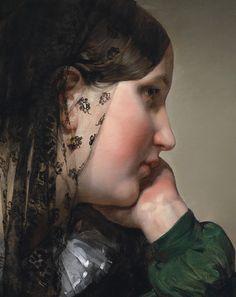 Friedrich von Amerling (1803-1887) Girl in Profile (Detail) Oil on canvas, 19th Century