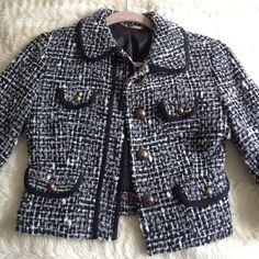 Express tweed jacket Super cute express tweed jacket. Gorgeous detail. Express Jackets & Coats Blazers