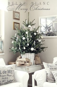 Così semplice e così chic ... Un bellissimo albero di Natale!  So simple and so cool! Beautifull christmas tree
