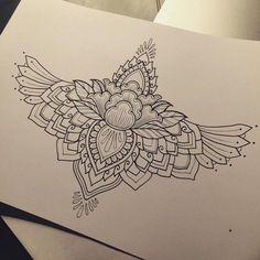 ideas tattoo sleeve women mandala thighs for 2019 Hawaiianisches Tattoo, Nape Tattoo, Tattoo Hals, Sternum Tattoo, Cover Tattoo, Fine Line Tattoos, New Tattoos, Girl Tattoos, Small Tattoos