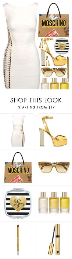 """""""Maybe the happy ending is just moving on"""" by sunnydays4everkh ❤ liked on Polyvore featuring Hervé Léger, Giuseppe Zanotti, Moschino, Prada, Aromatherapy Associates, Urban Decay and Estée Lauder"""