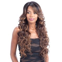 Model Model Synthetic Lace Front Wig Deep Invisible Part Lace Wig Ria