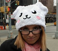 Dog Hat made from Super Fluffy Fleece by AthenasWink on Etsy, $25.00