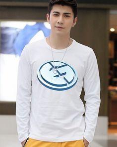 Dota 2 team Evil Genius t shirt long sleeve for men-