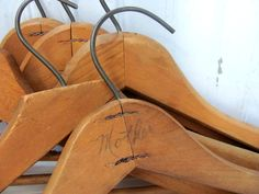 10 Vintage Wooden clothes Hangers by dirtybirdiesvintage on Etsy, $30.00