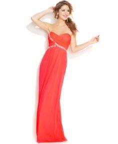 City Studio Juniors' Strapless Sweetheart Dress | macys.com