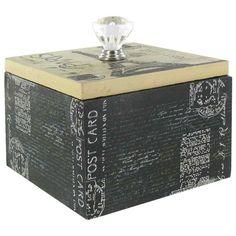 Paris MDF Box with Clear Knob