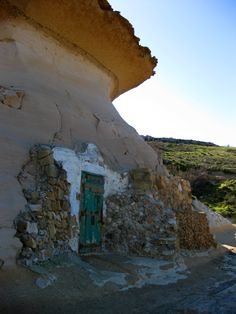Gozo – this is a curious mix of nature and practical 'architecture'!