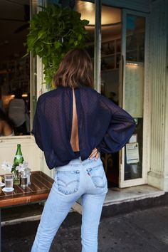 The Odder Side Melrose Shirt Cool Girl, Mom Jeans, Navy, Cool Stuff, Shirts, Outfits, Dots, Design, Style