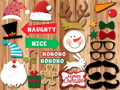 INSTANT DOWNLOAD CHRISTMAS Photo Booth Props by TheSweetPrints, $5.00
