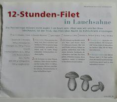 12-Stunden-Filet in Lauchsahne