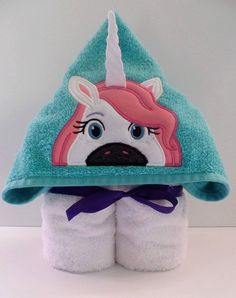 Unicorn Hooded Towel by 7DeadlyStitches on Etsy