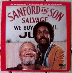 Sanford and Son (from the original tv show with Redd Foxx) LP Vinyl Record Album, RCA - Non-Music, Comedy, Original Pressing 70s Sitcoms, Black Sitcoms, Black Tv Shows, Redd Foxx, Sanford And Son, The Originals Tv, Nbc Tv, Old Shows, Great Tv Shows