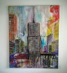 Guarda questo articolo nel mio negozio Etsy https://www.etsy.com/it/listing/468076189/ncy-color-city-mkmelu-acrylic-painting