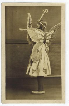RPPC Girl in Butterfly Costume Art Nouveau Halloween Masque or Play Photo Flower Costume, Butterfly Costume, Vintage Ballet, Mermaid Fairy, Animal Costumes, Vintage Photographs, Antique Photos, Vintage Fairies, Woodland Fairy