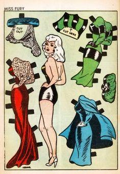 MISS FURY, Comic Book Paper Doll 1942